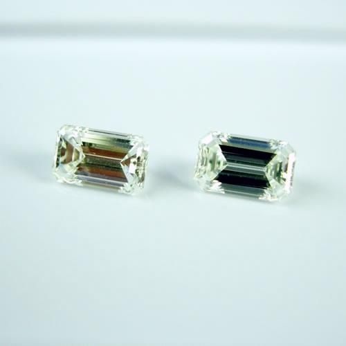 ダイヤ 0.65ctペア F.G・VVS-1 エメラルドカット ジュエリールース dz135 画像