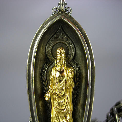 pt900.k18(古美) 菩薩 携帯仏壇
