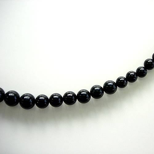 天然ジェット(10〜4mmグラデーション)42cm ネックレスジュエリー jn0102 画像