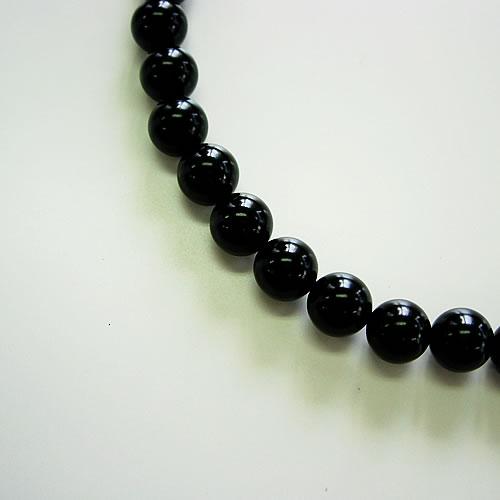 天然ジェット(10mm丸玉)ネック42cm (10mm丸玉)ピアスorイヤリングセット jn0212s 画像