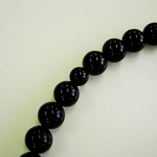 天然ジェット 共仕立正絹房 女性用数珠(念珠) jn5681k 画像