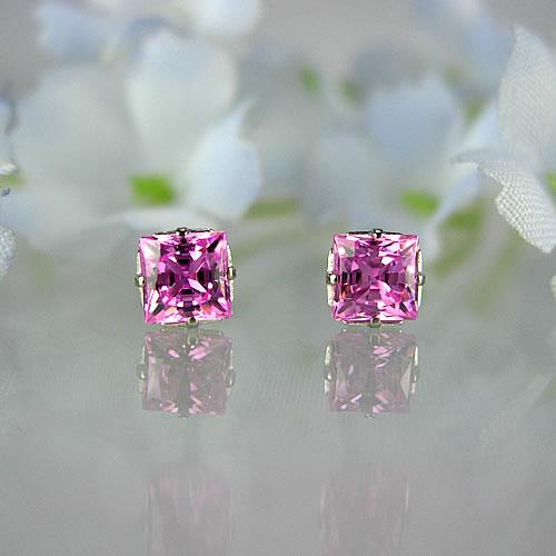 <font color=#ff4500>〔送料無料〕</font>MARE(マーレ) SWAROVSKI  Pink 4×4mm ピアスジュエリー ma071