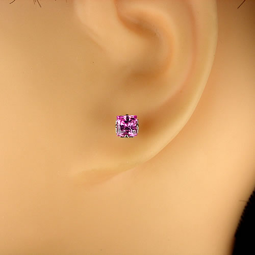 <font color=#ff4500>〔送料無料〕</font>MARE(マーレ) SWAROVSKI  Pink 4×4mm ピアスジュエリー ma071 画像