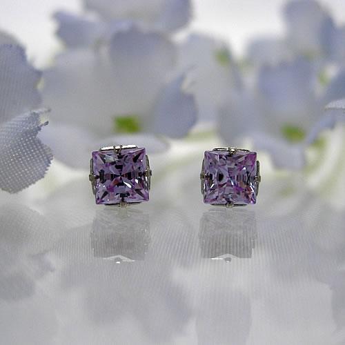 <font color=#ff4500>〔送料無料〕</font>MARE(マーレ)SWAROVSKI  Lavender  4×4mm  ピアスジュエリー ma072