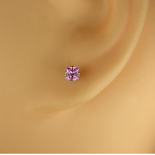 <font color=#ff4500>〔送料無料〕</font>MARE(マーレ) SWAROVSKI  Pink  3×3mm  ピアスジュエリー ma077 画像