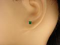 <font color=#ff4500>〔送料無料〕</font>MARE(マーレ)SWAROVSKI  Green 3×3mm ピアスジュエリー