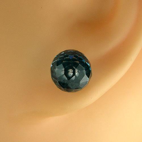 純チタン ブルートパーズ 8mm ピアスジュエリー mb101 画像