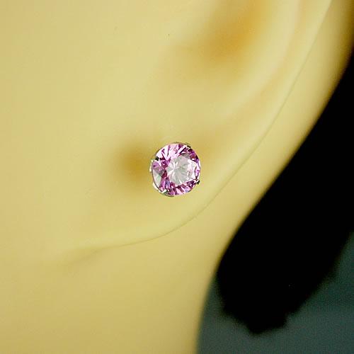 <font color=#ff4500>〔送料無料〕</font> MARE(マーレ) SWAROVSKI Pink  5×5mm ピアスジュエリー mt094 画像