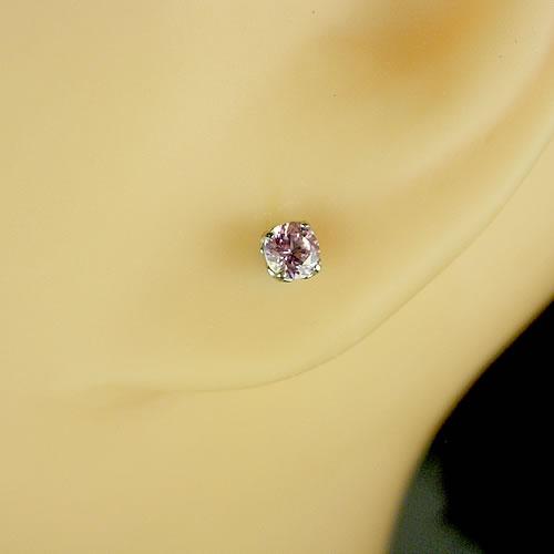 <font color=#ff4500>〔送料無料〕</font>MARE(マーレ)SWAROVSKI  Pink Sapphire 3×3mm ピアス mt185 画像