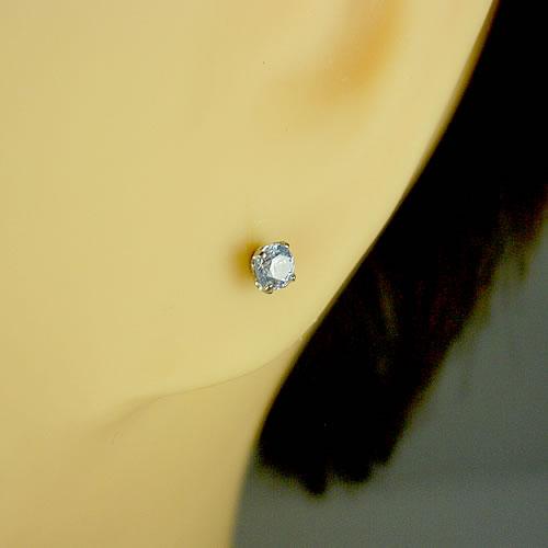 <font color=#ff4500>〔送料無料〕</font>MARE(マーレ)SWAROVSKI Blue Moon 3×3mm ピアスジュエリー mt187 画像