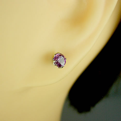 <font color=#ff4500>〔送料無料〕</font> MARE(マーレ) SWAROVSKI Fancy Purple  4×4mm ピアス mt189 画像