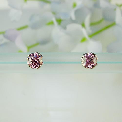 <font color=#ff4500>〔送料無料〕</font> MARE(マーレ) SWAROVSKI pink Sapphire  4×4mm ピアス mt190