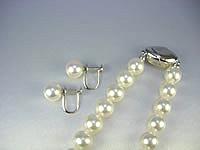 花珠真珠ネックレス+イヤリングorピアス2点セット(7.5〜8.0mm)