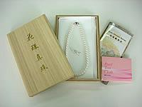 花珠真珠ネックレス+イヤリングorピアス2点セット(8.0〜8.5mm)