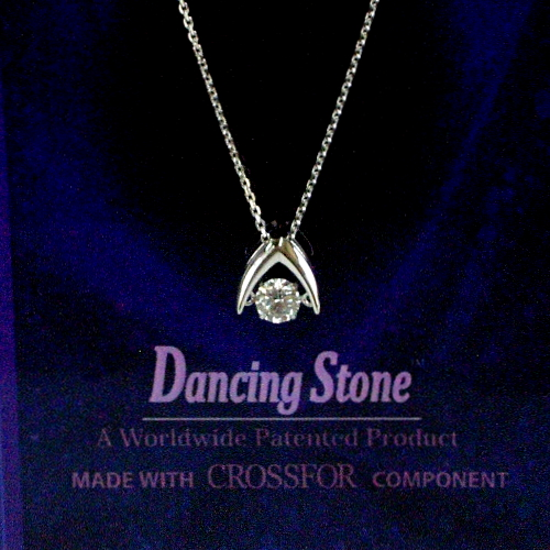k18wg ダイヤ0.20ct Dancing Stone ペンダント ジュエリー pa791