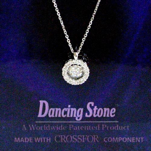 k18wg ダイヤ0.20ct Dancing Stone ペンダント ジュエリー pa792