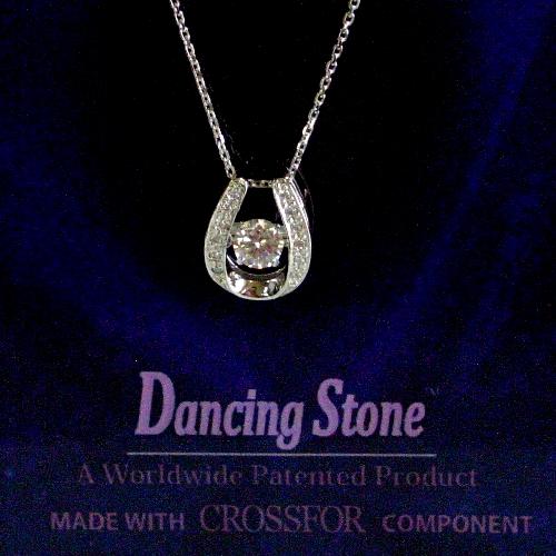 k18wg ダイヤ0.20ct Dancing Stone ペンダント ジュエリー pa793