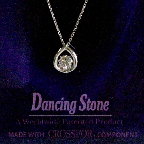k18wg ダイヤ0.20ct Dancing Stone ペンダント ジュエリー pa794