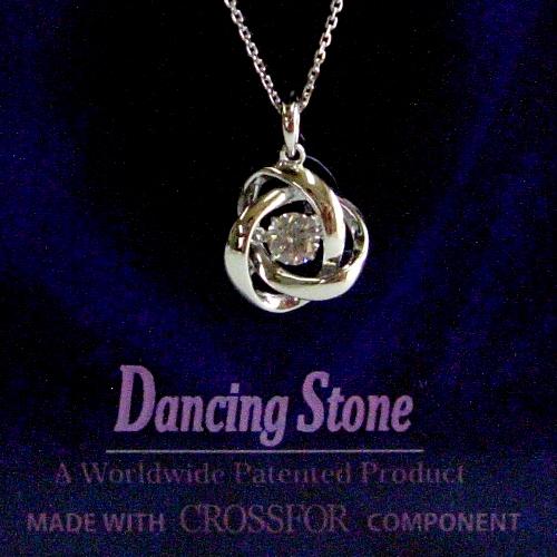 k18wg ダイヤ0.20ct Dancing Stone ペンダント ジュエリー pa795