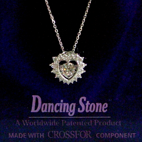k18wg ダイヤ0.20ct Dancing Stone ペンダント ジュエリー pa796