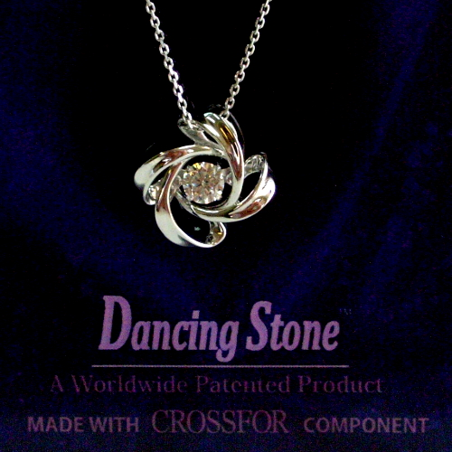 k18wg ダイヤ0.20ct Dancing Stone ペンダント ジュエリー pa798