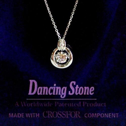 k18wg ダイヤ0.20ct Dancing Stone ペンダント ジュエリー pa799