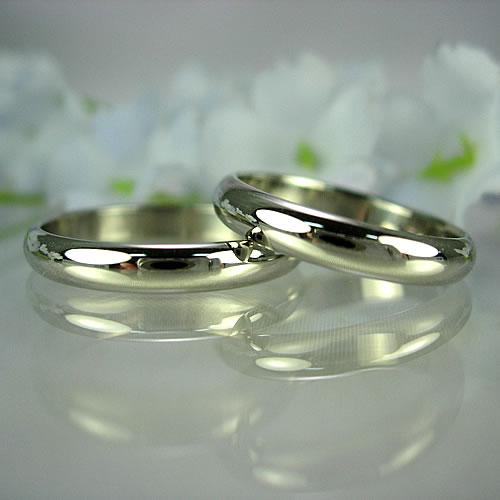 pt900 ベーシック無地甲丸(匁)結婚指輪・ペアリング ジュエリー pw01
