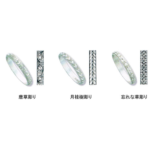 pt900 ベーシック無地甲丸(匁)結婚指輪・ペアリング ジュエリー pw01 画像