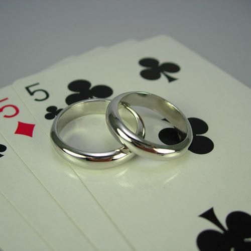 pt900 ベーシック無地甲丸(1.5匁)結婚指輪・ペアリング ジュエリー pw02 画像