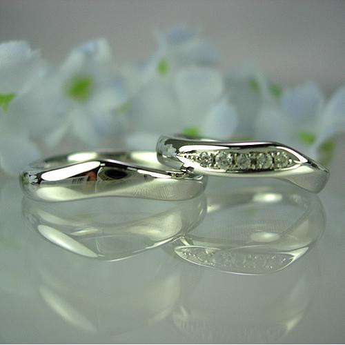 pt900 ペアリング・結婚指輪 pw036