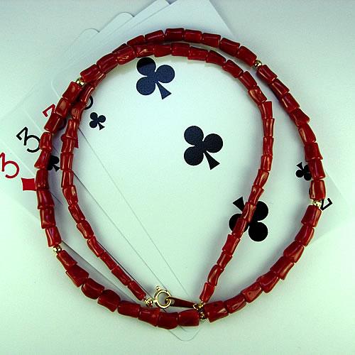<b><font color=#FF0000>※特設市場※</font></b>k18 血赤珊瑚 枝 ネックレス sb395 画像