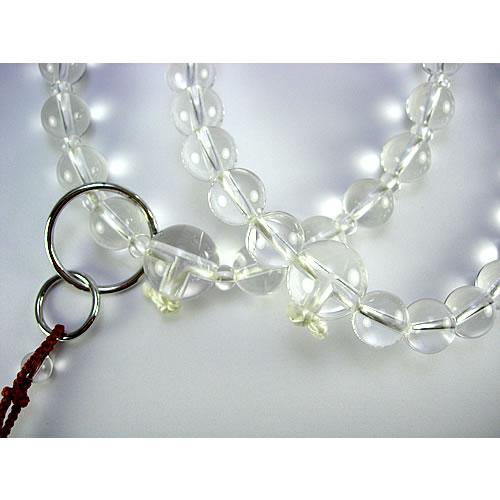 <b><font color=#FF0000>※特設市場※</font></b>天然水晶 11mm  男性用 本連数珠(念珠) sb413 画像