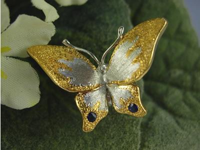 シルバー925 蝶(チョウ)08 タイタック・ブローチジュエリー