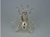 シルバー925 蟻(アリ)01bタイタック・ブローチジュエリー