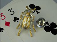 シルバー925 斑猫(ハンミョウ)02 タイタック・ブローチジュエリー