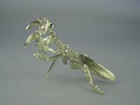 シルバー925 蟷螂(カマキリ)01タイタック・ブローチジュエリー