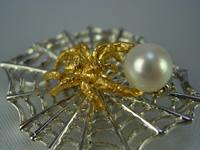 シルバー925 こ蜘蛛(コクモ)05p ペンダント・ブローチジュエリー