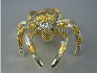 シルバー925 黄金蜘蛛(コガネグモ)12 タイタック・ペンダントジュエリー