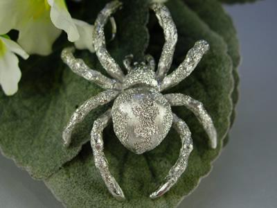 シルバー925 鬼蜘蛛(オニグモ)01 タイタック・ペンダントジュエリー