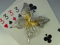 シルバー925 蝶(ちょう) ブローチジュエリー