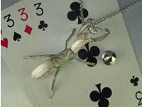 シルバー925 蟷螂(カマキリ)b01 タイタック・ペンダントジュエリー