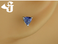 k18wg アフリカの星 タンザナイト ピアスジュエリー