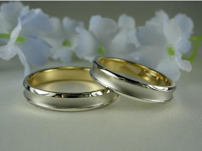 k18・pt900 コンビ結婚指輪・ペアリングジュエリー