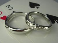 pt1000 純白結婚指輪・ペアリングジュエリー