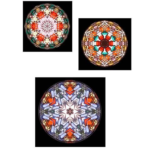 カレイドスコープ(万華鏡)ペンダント zk112 画像