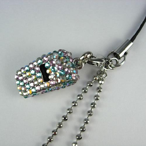 キラキラ クリスタルホイッスル(Whistle Charm)ストラップ zp101m 画像
