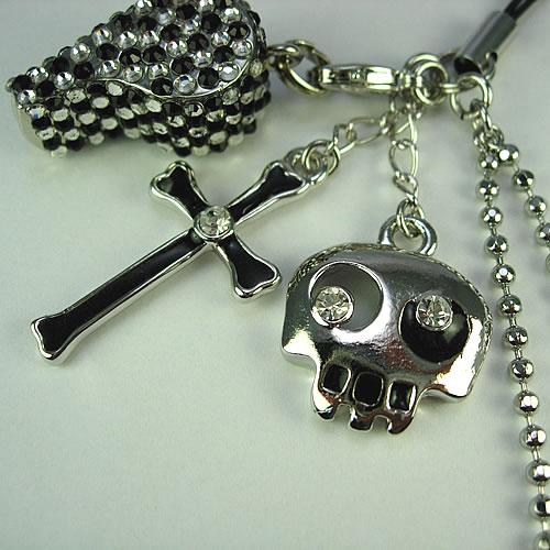 キラキラ クリスタルホイッスル(Whistle Charm)ストラップ zp104 画像