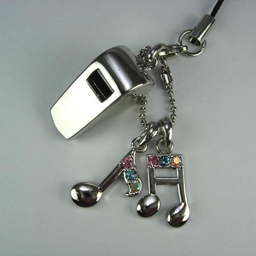 シルバーホイッスル(Whistle Charm)ストラップ zp106 画像