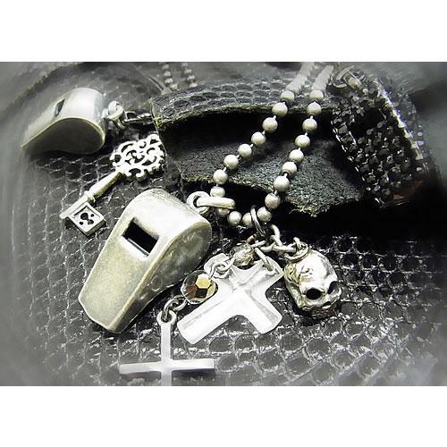 シルバーホイッスル(Whistle Charm)ストラップ zp107b