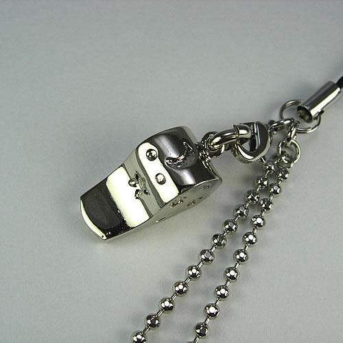 キラキラ クリスタルホイッスル(Whistle Charm)ストラップ zp111s 画像